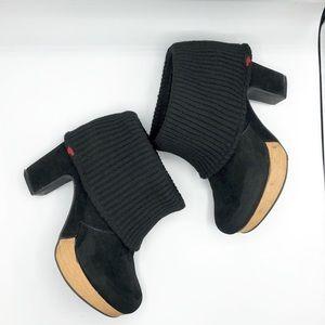 Rocket Dog black clog suede ankle boots